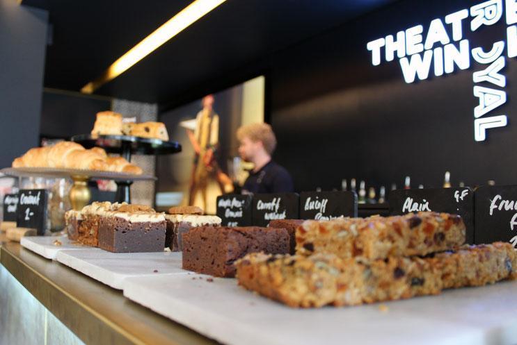 Cakes on a bar