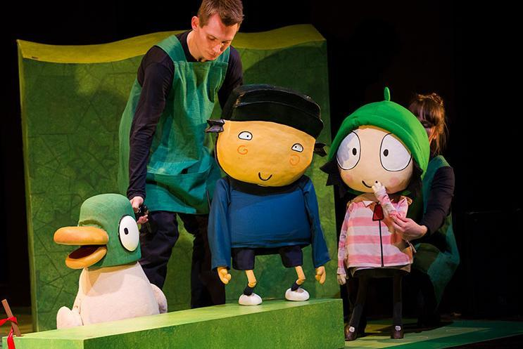 Sarah and Duck production shot